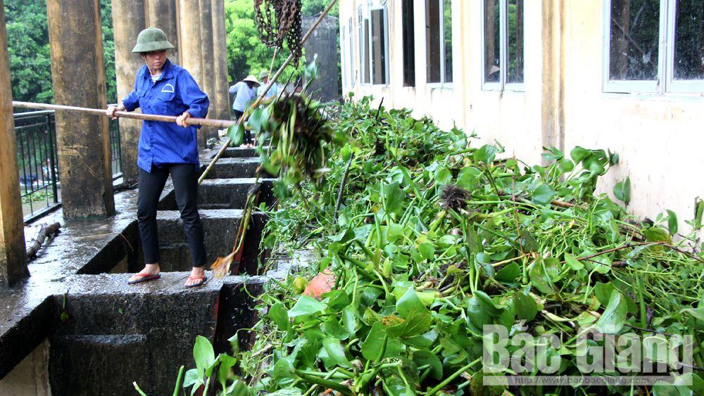 Bắc Giang: Huy động 60 tổ máy bơm tiêu nước đệm