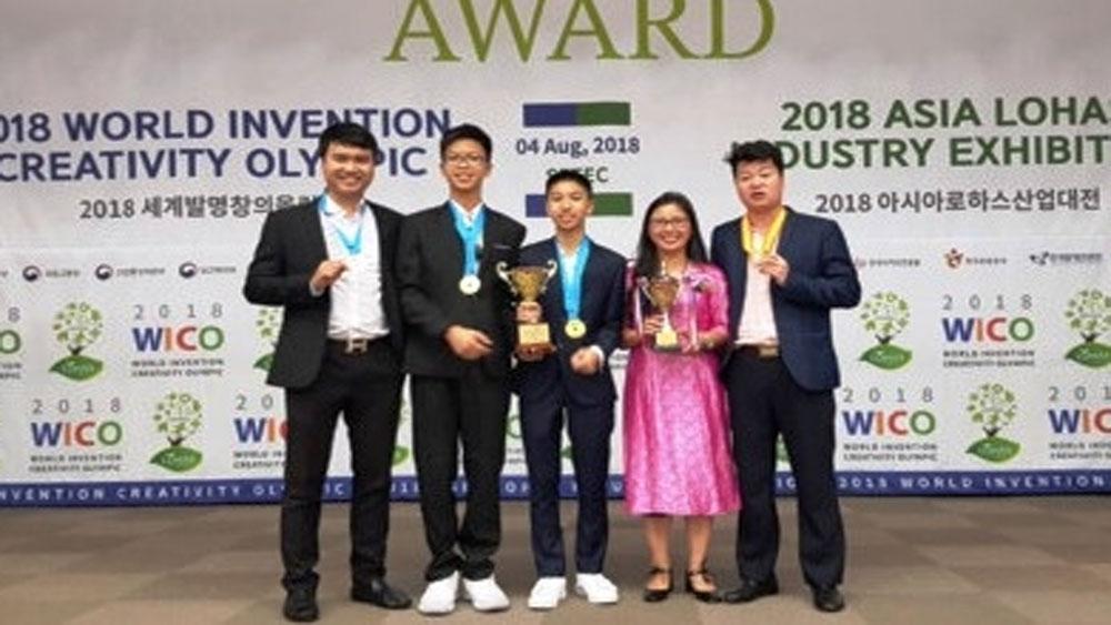 Đoàn học sinh Việt Nam đạt thành tích cao tại Olympic phát minh và sáng chế Thế giới