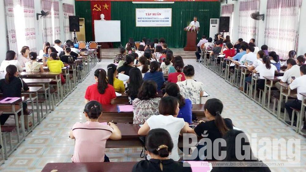 Tập huấn,  nghiệp vụ, tài chính,  kế toán,  tỉnh Bắc Giang