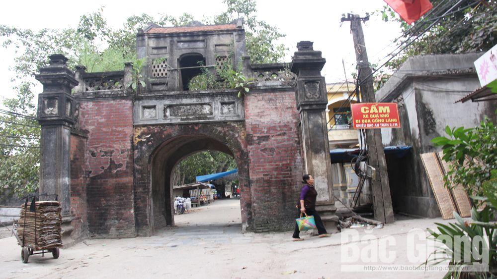 Cổng làng, Thổ Hà, tu bổ, Bắc Giang, Việt Yên,