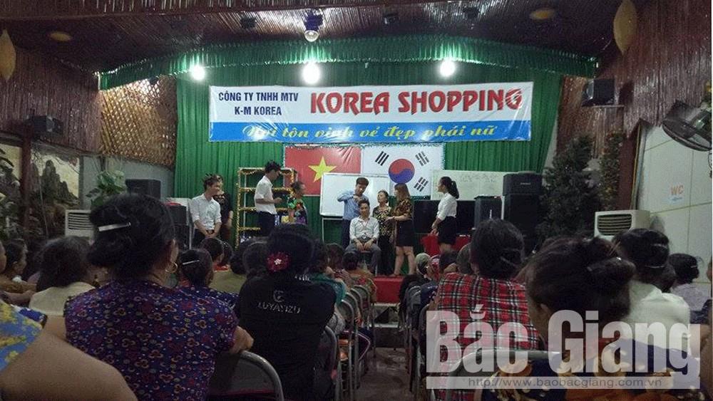 Cẩn trọng khi mua hàng tại Korea Shopping ở Lục Ngạn