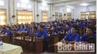 Gần 200 cán bộ đoàn tỉnh Bắc Giang tham gia lớp huấn luyện Lý Tự Trọng