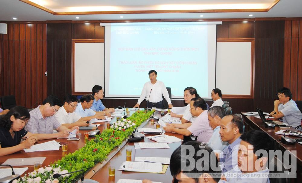 Huyện Việt Yên, tỉnh Bắc Giang, báo Bắc Giang, xây dựng nông thôn mới, huyện nông thôn mới