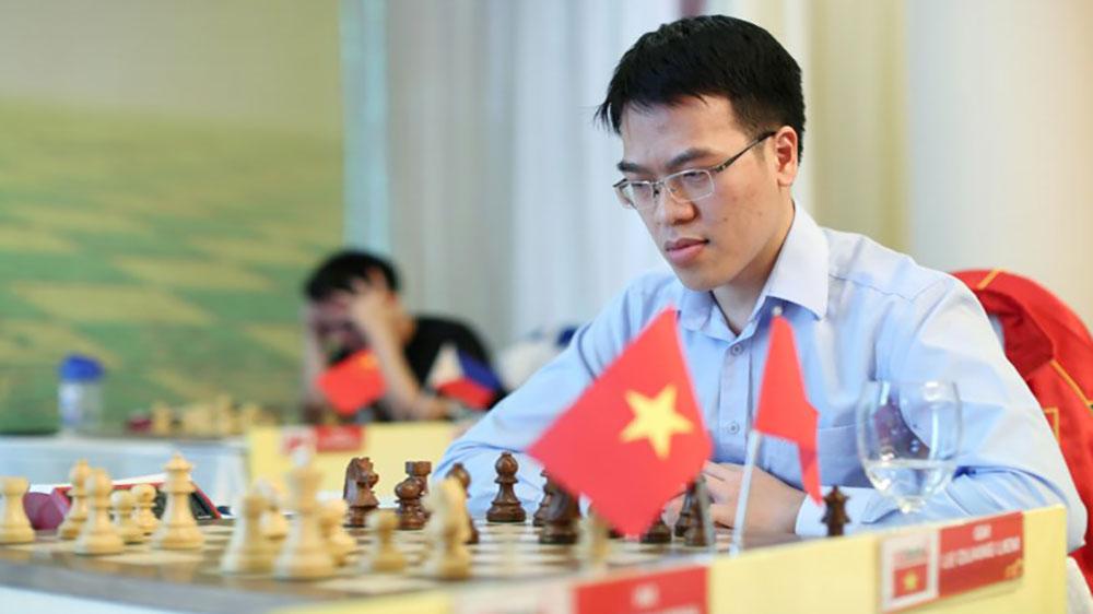Lê Quang Liêm thắng ván 2 giải cờ vua quốc tế UAE