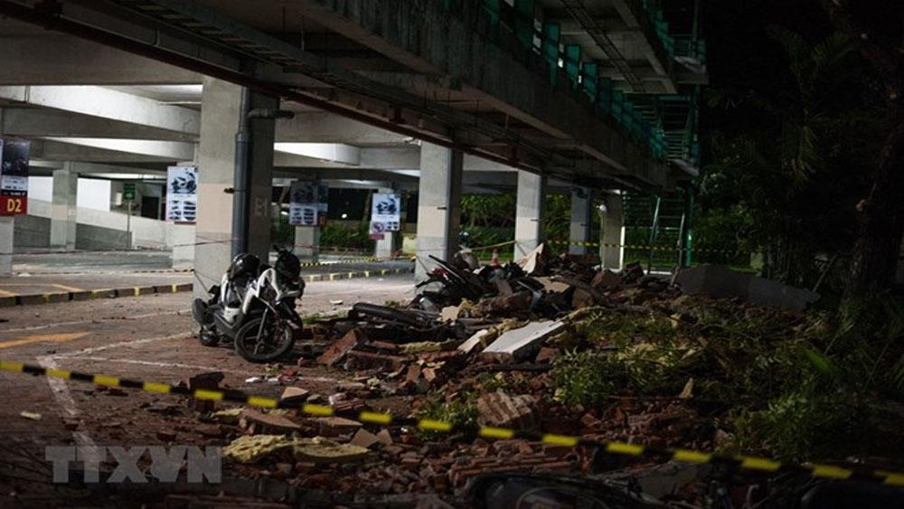 Indonesia, tiếp tục, động đất, đảo Lombok, tòa nhà, đổ sập