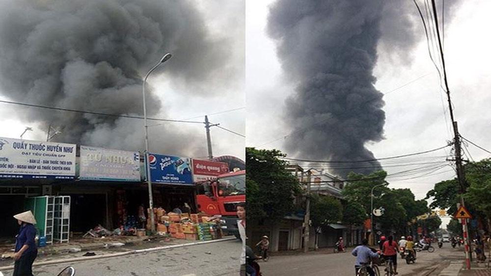 Khởi tố vụ án vi phạm quy định về phòng cháy, chữa cháy tại chợ Sóc Sơn, Hà Nội