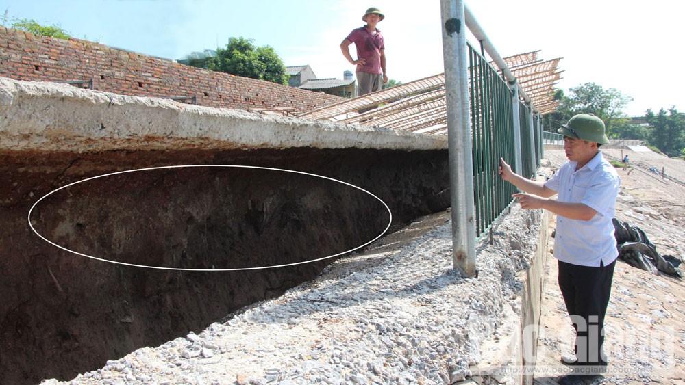 xử lý khẩn cấp sự cố sạt lở, sông Lục Ngạn, kè hư hỏng, Bắc Giang