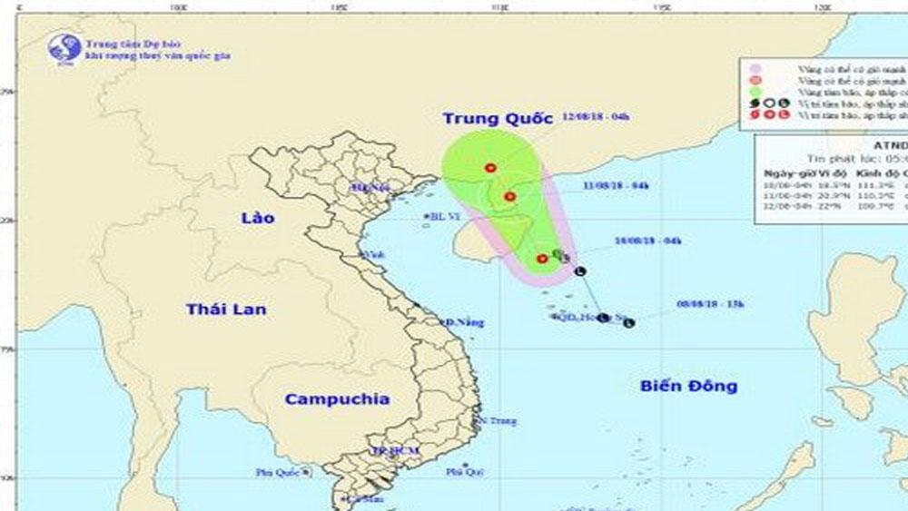 Vùng áp thấp, mạnh lên, áp thấp nhiệt đới, cả nước, mưa dông