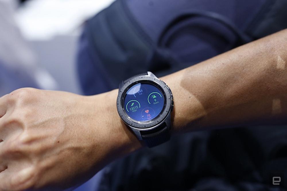Cận cảnh, đồng hồ thông minh, Samsung Galaxy Watch, Note9, Note 9, mặt đồng hồ