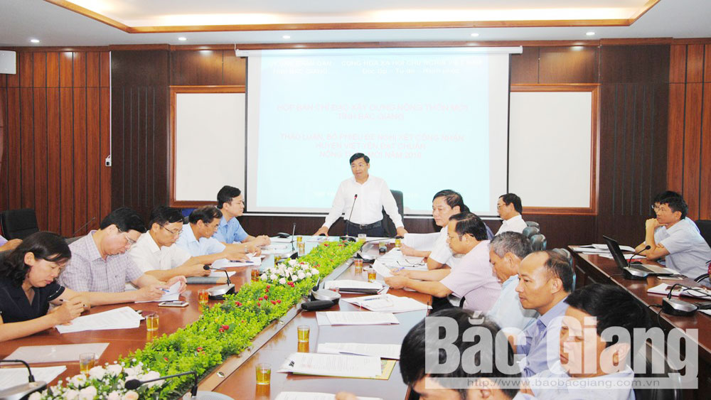 Viet Yen district qualifies for recognition as a new-style rural area