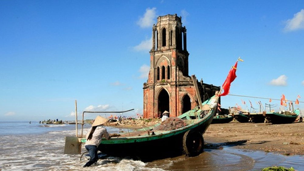 Vẻ đẹp, hoang sơ, nhà thờ đổ Nam Định