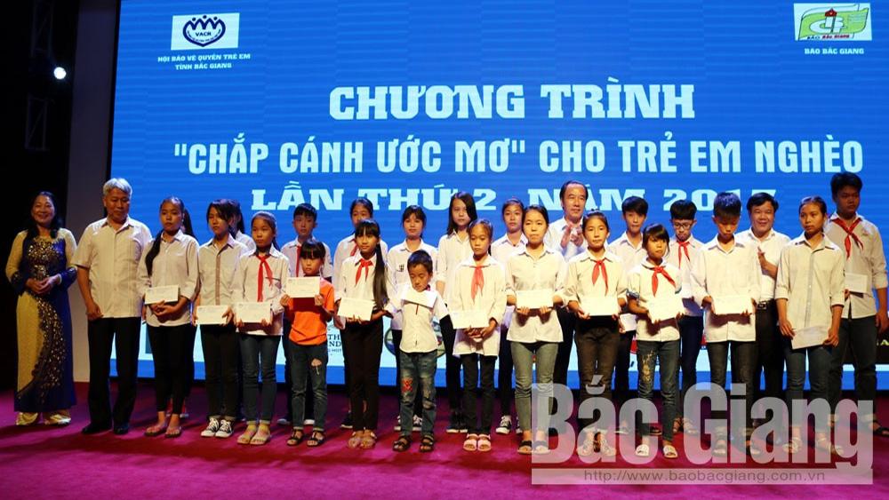 Danh sách, Chắp cánh ước mơ,, đơn vị, cá nhân, tổ chức, trẻ em nghèo, tỉnh Bắc Giang, báo Bắc Giang