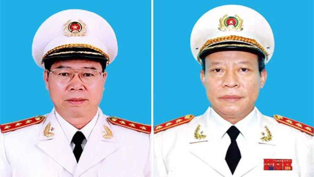 Thượng tướng Bùi Văn Nam (trái) và Thượng tướng Lê Quý Vương.