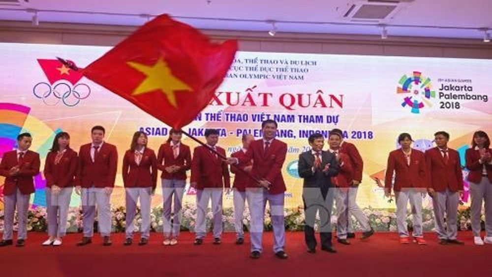 Ceremony sees off Vietnamese sport delegation to Asian Games 2018