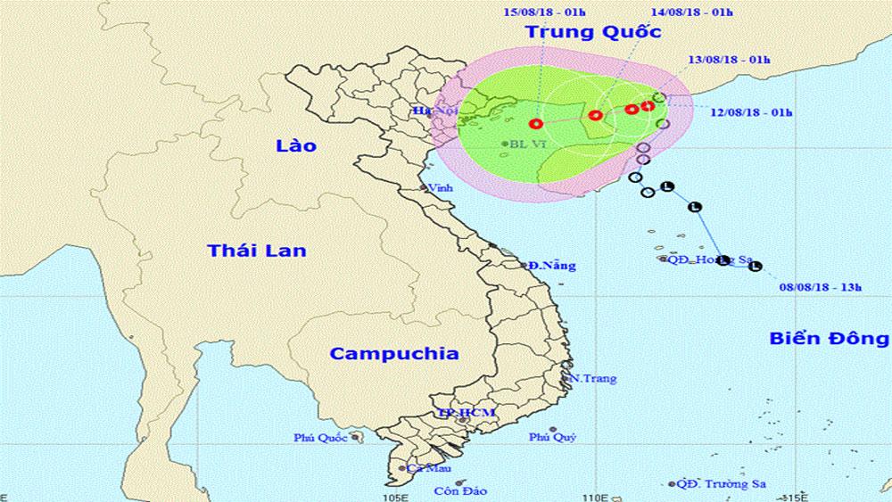 Áp thấp nhiệt đới gây gió giật cấp 9 và có khả năng mạnh thêm