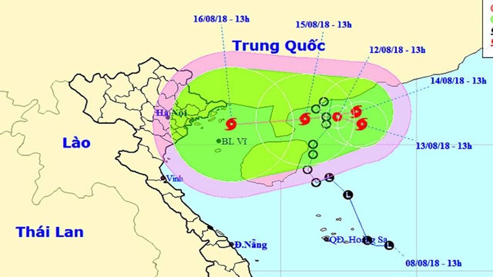Áp thấp nhiệt đới đang mạnh lên thành bão