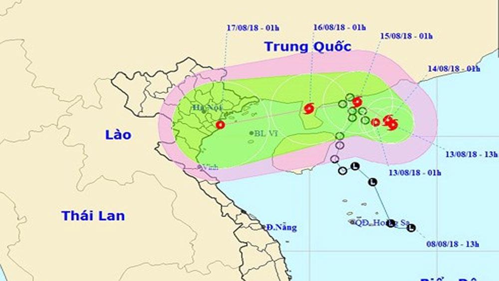 Áp thấp nhiệt đới di chuyển hướng Đông Đông Nam và mạnh lên thành bão