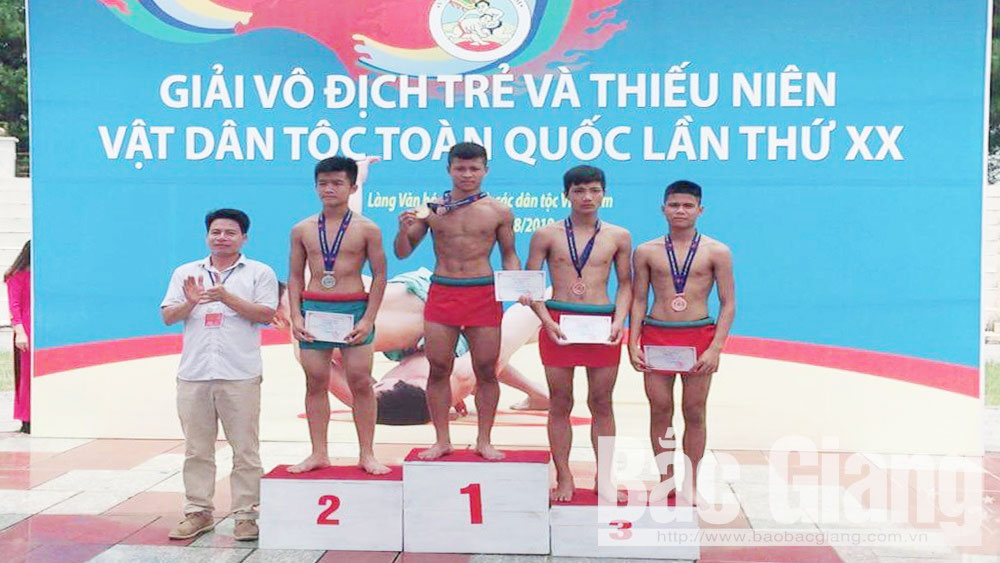 Bac Giang ranks second in national junior traditional wrestling tournament