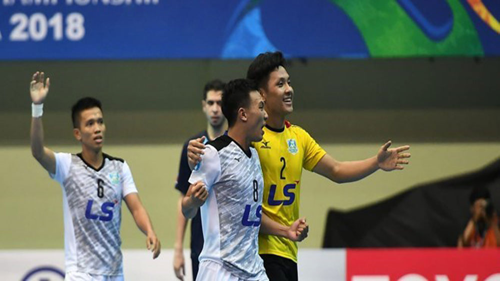 Thai Son Nam, second place, AFC, Futsal Club Championship, final match, football club, good performance, championship title