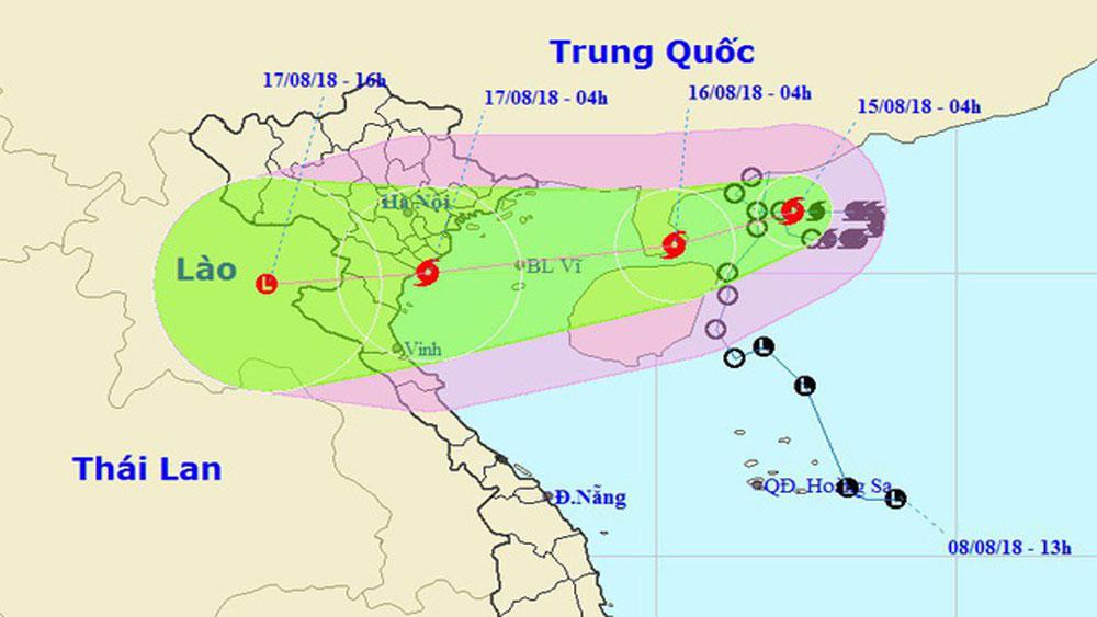 Bão số 4 đổi hướng vào Hải Phòng - Thanh Hóa, miền Bắc mưa to