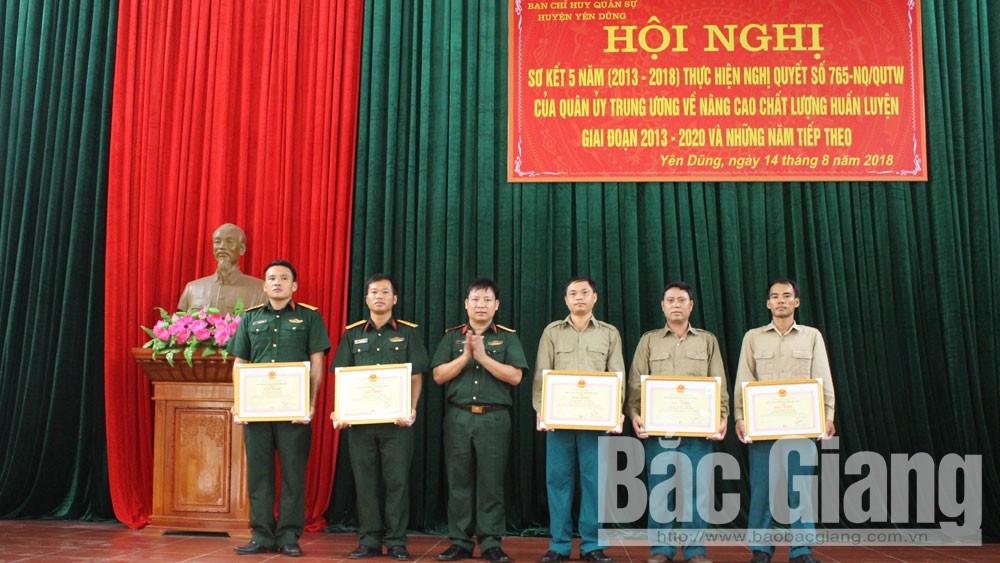 Ban CHQS huyện Yên Dũng: Nâng cao chất lượng công tác huấn luyện