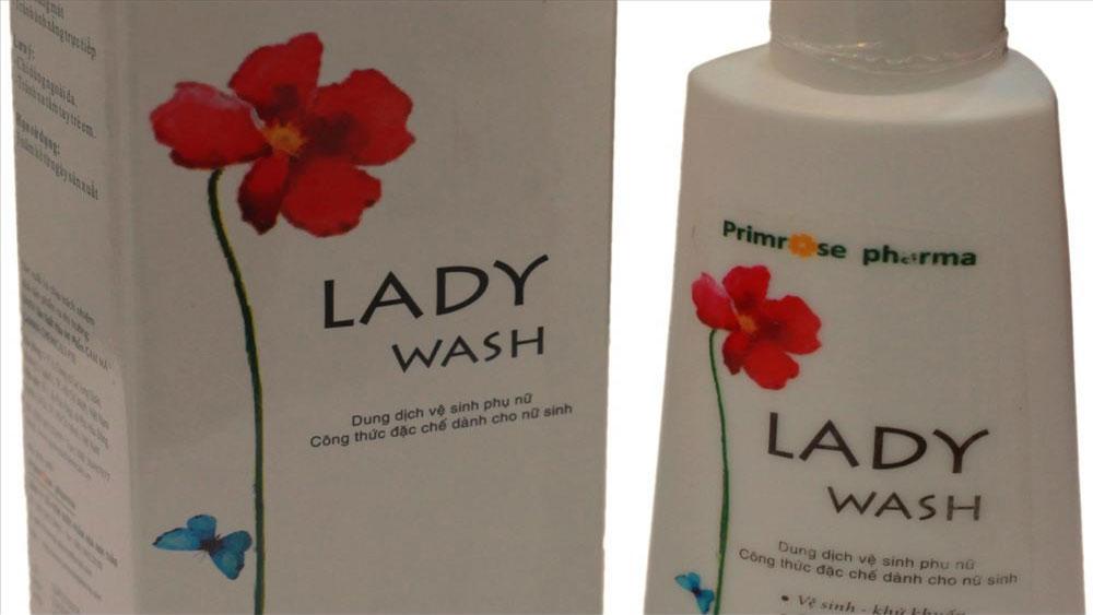 Đình chỉ lưu hành, thu hồi dung dịch vệ sinh phụ nữ Lady Wash
