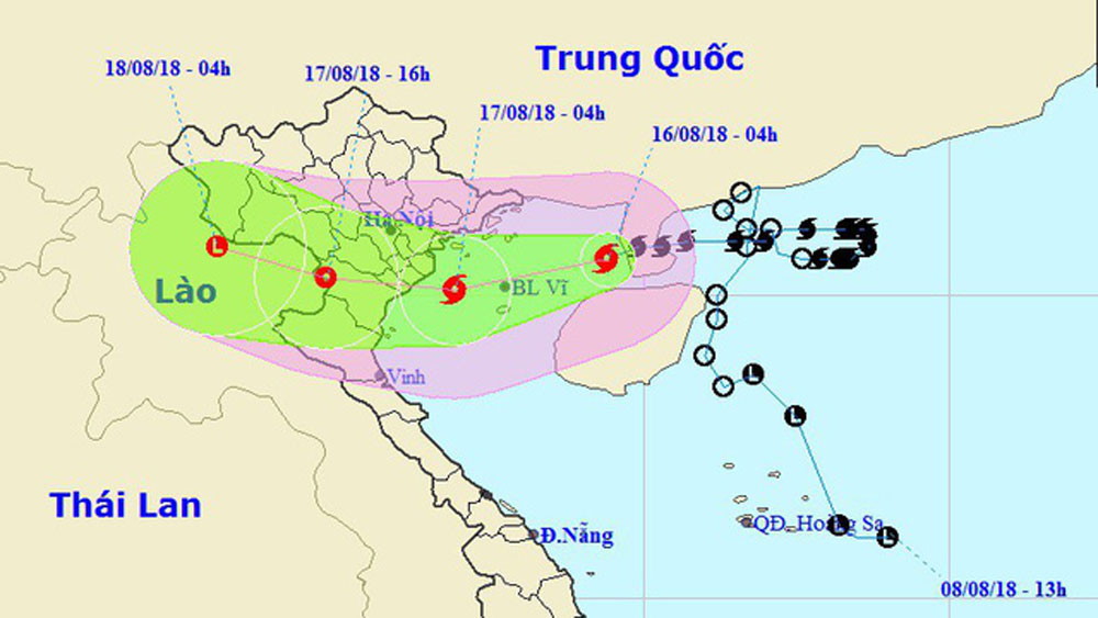 Bão số 4 đã vào vịnh Bắc Bộ, Hà Nội mưa rất to