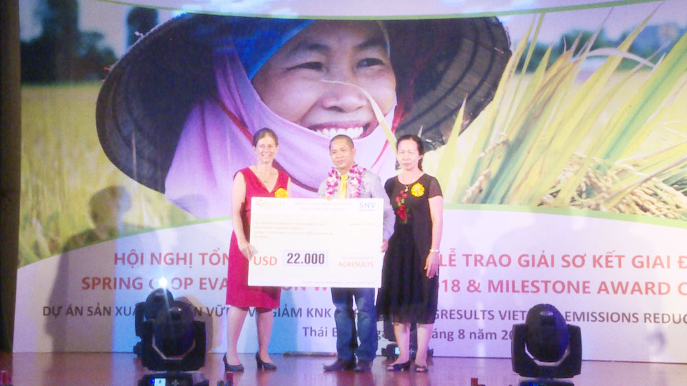 US$100,000 presented to solvers of rice cultivation with less greenhouse gas emissions