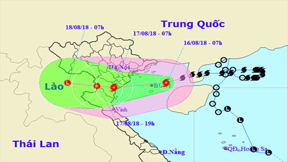 Đêm nay, bão vào các tỉnh từ Thái Bình đến Thanh Hóa