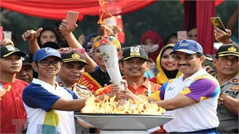 ASIAD 2018 torch reaches Jakarta ahead of opening ceremony