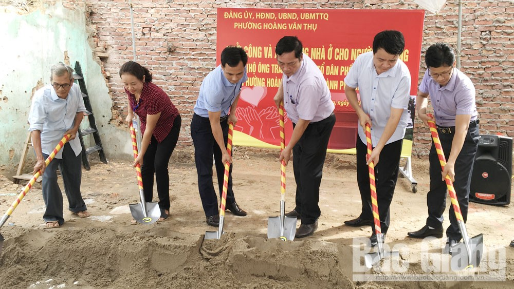 Mỗi phường, xã ở TP Bắc Giang xây dựng một nhà mới cho hộ khó khăn