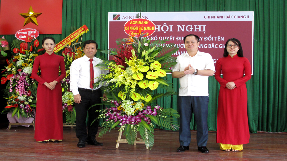 Đổi tên Agribank Chi nhánh Xương Giang Bắc Giang II từ ngày 3-8
