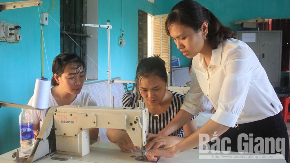Tân Yên đào tạo nghề cho phụ nữ nông thôn