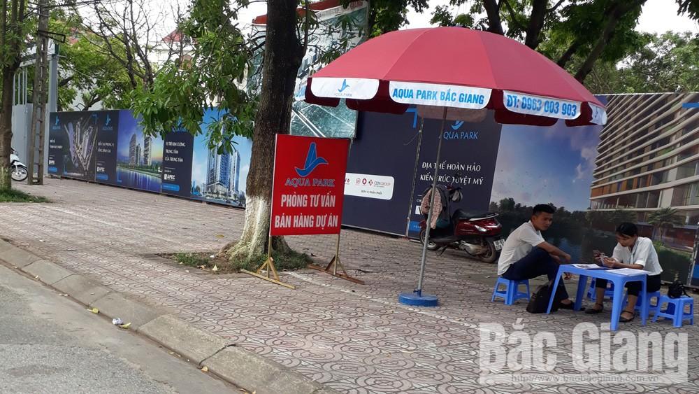 Chưa đủ điều kiện đã bán hàng tại Dự án Aqua Park, TP Bắc Giang