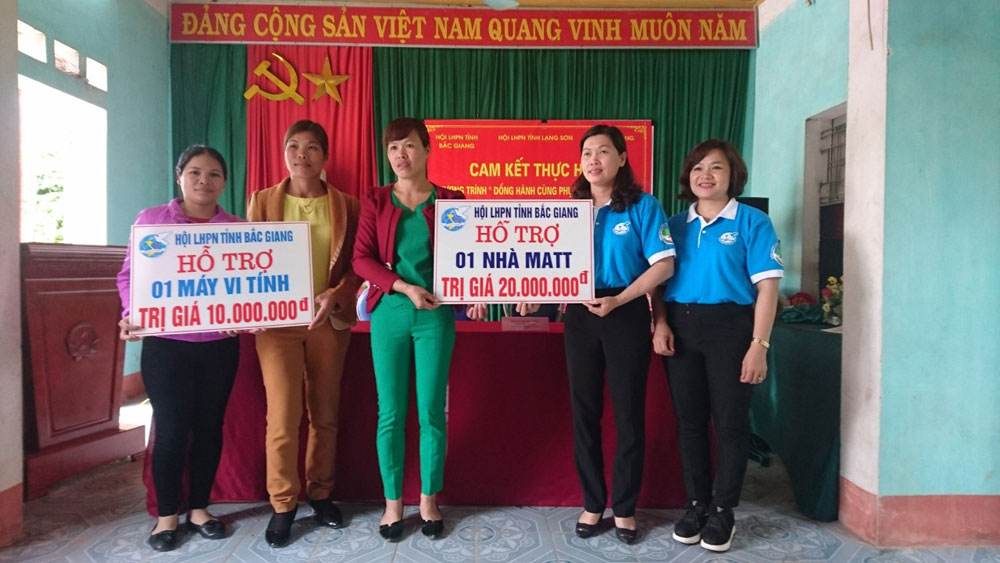Study tools, border communes, Bac Giang province, Women's Union, Tu Mich commune, Loc Binh district, Lang Son province, new academic year, Vietnam Women's Union