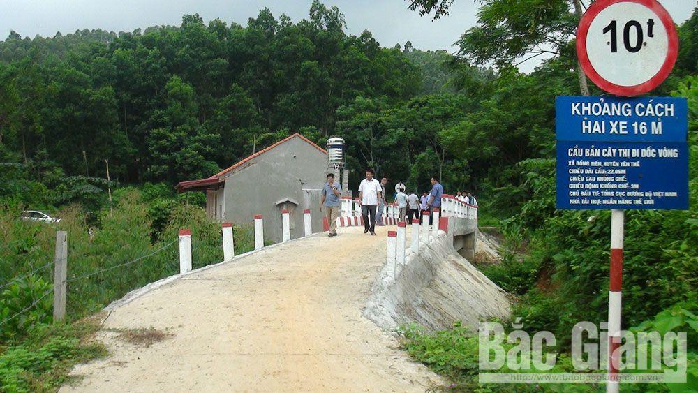 Cầu dân sinh tại bản Cây Thị, xã Đồng Tiến vừa được nghiệm thu, đưa vào sử dụng.