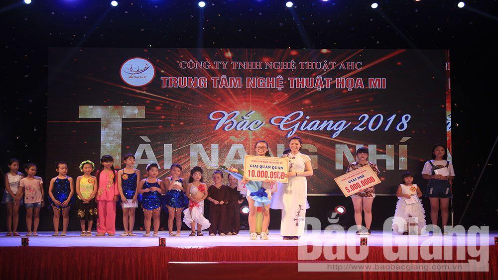 Nguyễn Thị Thảo Vân giành quán quân cuộc thi Tìm kiếm Tài năng nhí Bắc Giang năm 2018