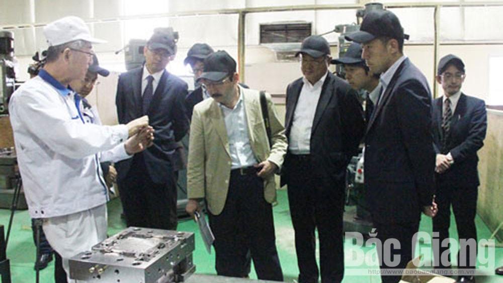 Các nhà đầu tư Nhật Bản và đại diện Tổ chức thương mại Nhật Bản (JETRO) tìm hiểu cơ hội đầu tư tại BắcGiang.