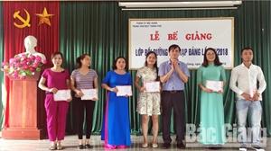 Bế giảng lớp bồi dưỡng kết nạp Đảng lần IV, năm 2018