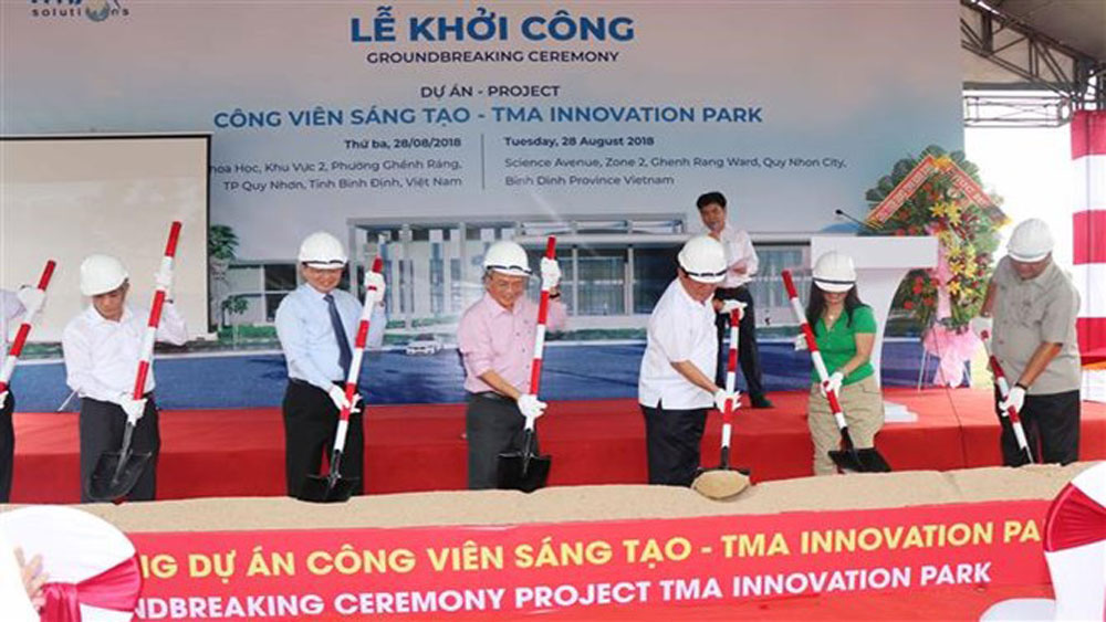 Construction, Vietnam's first creative park, Binh Dinh province, TMA creative park, software production, data science, artificial intelligence, internet of things