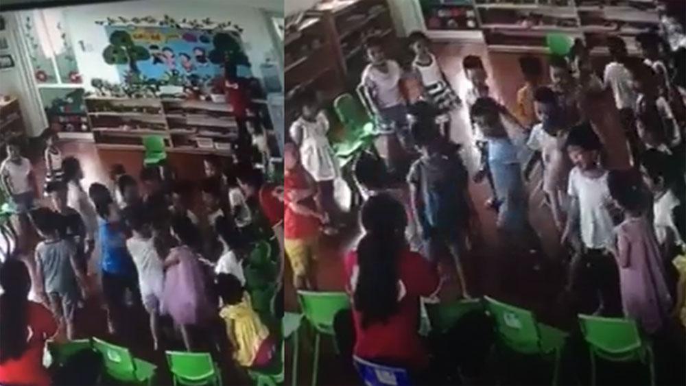 Trẻ mầm non lao vào đánh một bạn trong lớp trước mặt cô giáo gây phẫn nộ