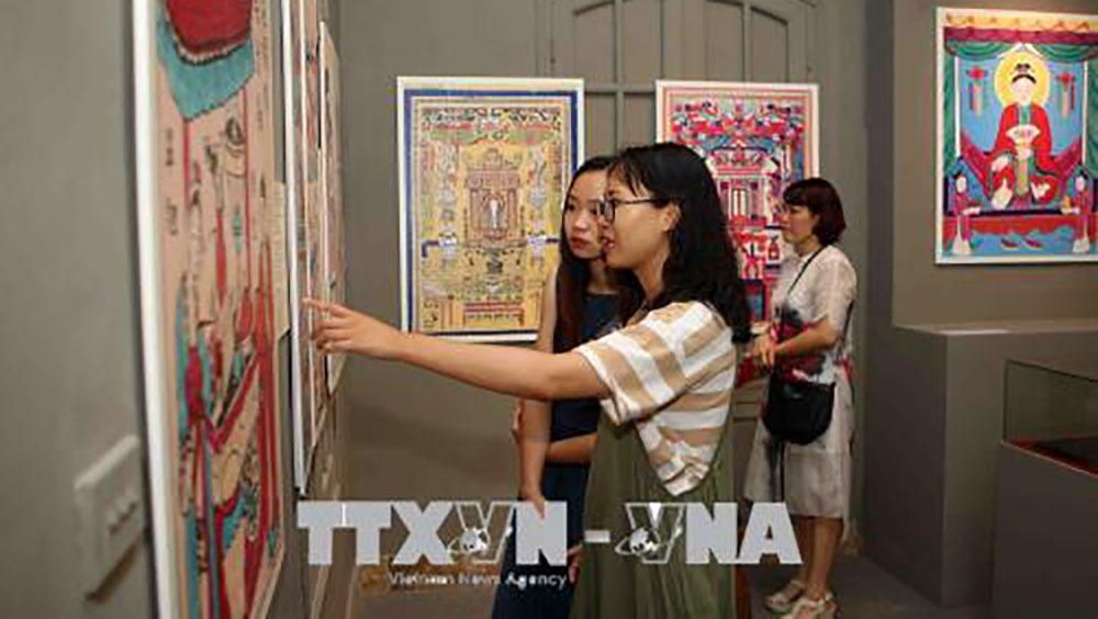 """Triển lãm """"Tranh dân gian Việt Nam"""" tại Hoàng thành Thăng Long"""
