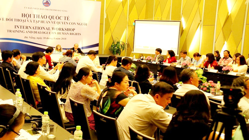 International workshop, human rights training, Da Nang city, international conference, international delegates, diplomatic missions, various issues, social equality, inclusive development