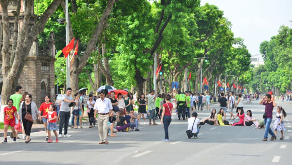 Hà Nội kéo dài thời gian hoạt động tại phố đi bộ dịp nghỉ lễ 2-9