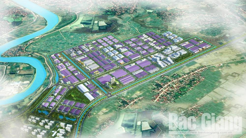 Phối cảnh dự án KCN Hòa Phú có diện tích 207,45ha thuộc các xã Châu Minh, Mai Đình và Hương Lâm (Hiệp Hòa) do Công ty TNHH Hòa Phú Invest làm chủ đầu tư.