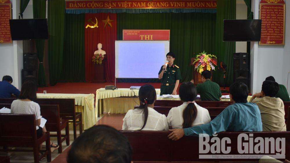 Thi báo cáo viên tuyên truyền viên lực lượng vũ trang huyện