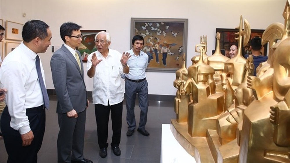 Prize winning works exhibited in Hanoi