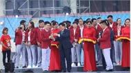 Lễ vinh danh Đoàn thể thao Việt Nam tại sân vận động Quốc gia Mỹ Đình