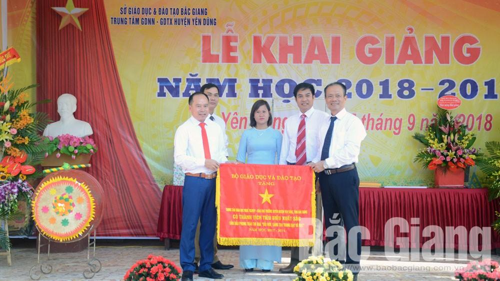 Khai giảng năm học mới tại Trung tâm Giáo dục Nghề nghiệp-Giáo dục thường xuyên huyện Yên Dũng