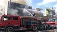 Quán bar giữa trung tâm TP Đà Nẵng cháy vùn vụt